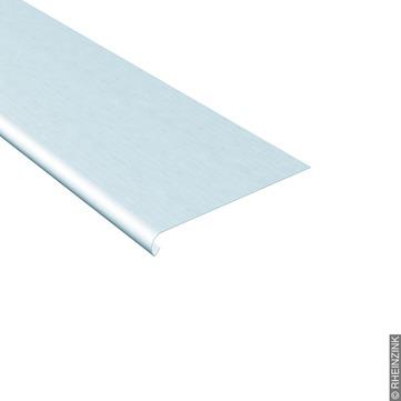 RHEINZINK Traufstreifen 167/0,70mm glatt, mit Wulst Länge 3m Classic walzblank