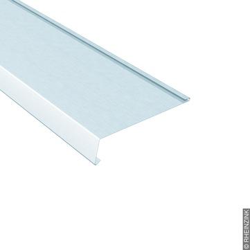 RHEINZINK Traufstreifen 250/0,70 mm 3 m mit Falz 105 Grad Titanzink prePATINA walzblank