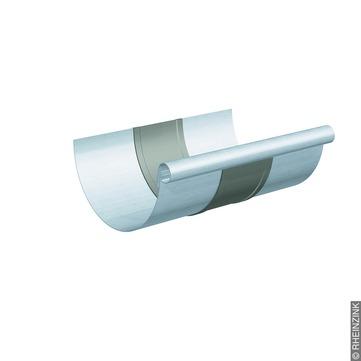 RHEINZINK 6-teilige Rinnendila halbrund 0,80 mm Titanzink prePATINA walzblank