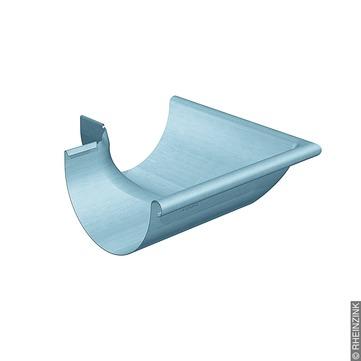 RHEINZINK 6-teilige Rinnenaußenwinkel halbrund 0,70 mm gezogen Titanzink prePATINA blaugrau