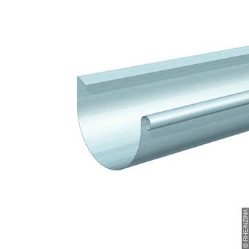 RHEINZINK 6-teilige Dachrinne Berliner Form halbrund 0,70mm 2,0m Classic walzblank