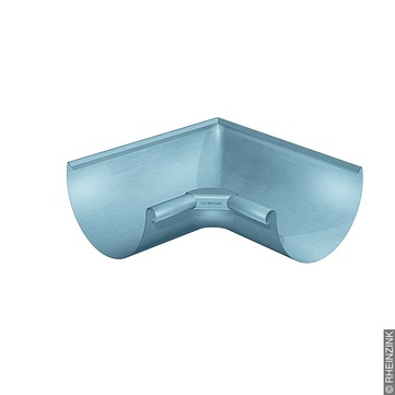 RHEINZINK 6-teilige Rinneninnenwinkel halbrund 0,70 mm gezogen Titanzink prePATINA blaugrau