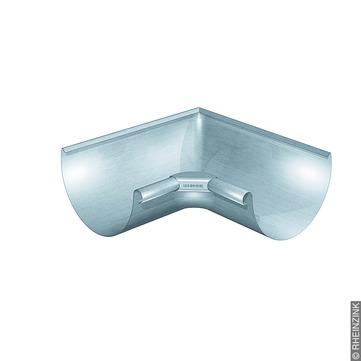 RHEINZINK 6-teilige Rinneninnenwinkel halbrund 0,70 mm gezogen Titanzink prePATINA walzblank