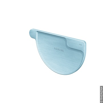 RHEINZINK 6-teilige Rinnenboden halbrund Kleben/Löten Titanzink prePATINA blaugrau
