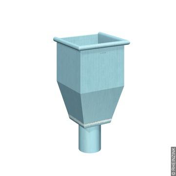 RHEINZINK 6-teilige Wasserfangkasten 100 mm Titanzink prePATINA blaugrau