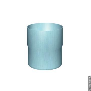 RHEINZINK 8-teilige Fallrohrmuffe 80 mm Titanzink prePATINA blaugrau