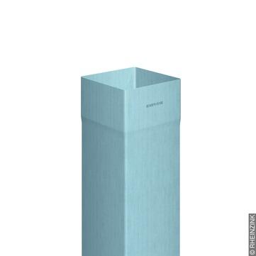 RHEINZINK 5-teilige Fallrohr Kasten 0,70 mm 2,0 m Nennweite 100/100 mm gelötet Titanzink prePATINA blaugrau