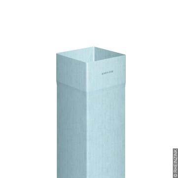 RHEINZINK 8-teiliges Fallrohr Kasten 0,65mm 2,0m Nennweite 60/60mm innengelötet Classic walzblank