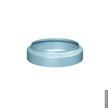 RHEINZINK 8-teilige Standrohrkappe 80/116 mm ohne Muffe Titanzink prePATINA blaugrau