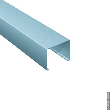 RHEINZINK Leistenkappe 152/0,80 mm 3 m vorprofiliert, gerade, aufklemmbar Titanzink prePATINA blaugrau