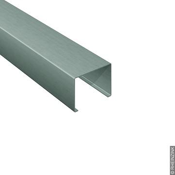RHEINZINK Leistenkappe 152/0,80 mm 3 m vorprofiliert, gerade, aufklemmbar Prepatina schiefergrau