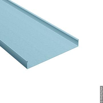 RHEINZINK Schar 0,70x570 mm 485 mm vorprofiliert gerade, Leistendeckung Titanzink prePATINA blaugrau