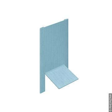 RHEINZINK Firstabschluß 0,70x143x167 mm Leistenkappe Titanzink prePATINA blaugrau