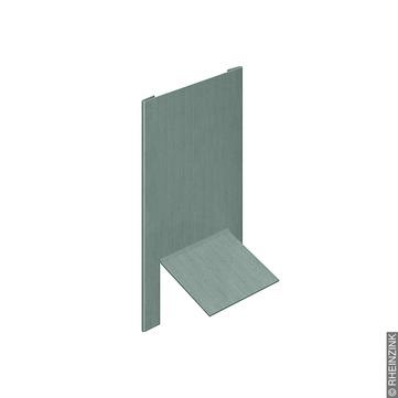 RHEINZINK Firstabschluss 0,70x143x167 mm Leistenkappe prePatina Titanzink prePATINA schiefergrau