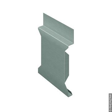 RHEINZINK H-Stoßblech 25 mm 401-450 mm 2,1 mm Folie Titanzink prePATINA schiefergrau