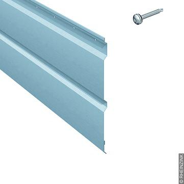 RHEINZINK Basispaneel SP-Linie 3 m inkl. Befestigung und Bit T25 Prepatina blaugrau