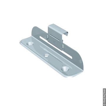 RHEINZINK Schiebehaft H strukturierte Trennlagen für Stehfalzhöhe 25 mm 150St/Kar Edelstahl