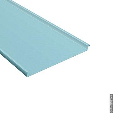 RHEINZINK Schar 0,70x700 mm 630 mm vorprofiliert gerade, für Stehfalzdeckung Titanzink prePATINA blaugrau