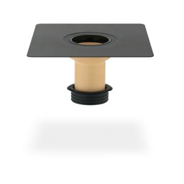 SITA Compact Gully Aufstockelement 220 mm wärmegedämmt mit Dichtring Bitumen-Anschlussmanschette