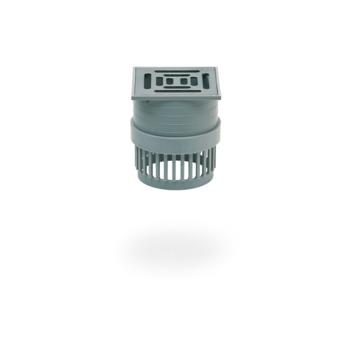 SITA Compact Gully Balkonaufsatz 60 mm mit Endrost Edelstahl