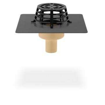 SITA Compact Gully senkrecht 70 mm PUR wärmegedämmt mit Kiesfang Bitumen-Anschlussmanschette