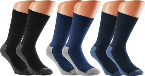 Intra Herren-Socken Wellness Gr.39-42 schwarz/marine/jeans 2 Paar im Paket
