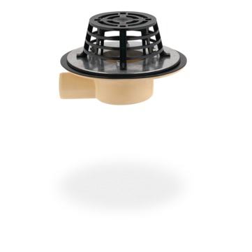 SITA Compact Gully abgewinkelt 50 mm PUR wärmegedämmt mit Kiesfang Schraubflansch