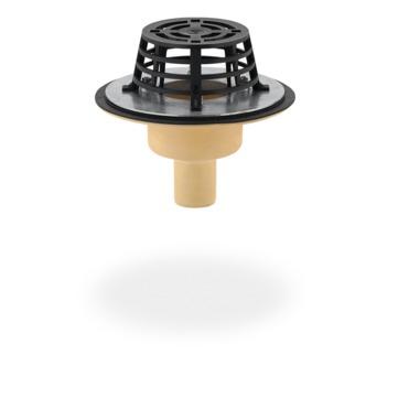 SITA Compact Gully senkrecht 50 mm PUR wärmegedämmt mit Kiesfang Schraubflansch