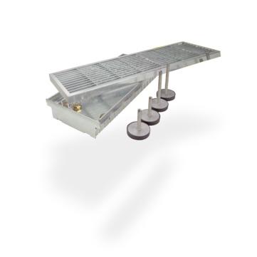 SITA Höheneinstellset 70-110 mm für SitaDrain Kastenrinne 4 Füße