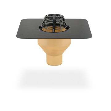 SITA Gully senkrecht 100 mm PUR wärmegedämmt mit Kiesfang Bitumen-Anschlussmanschette