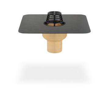 SITA Trendy Gully senkrecht 100 mm PUR wärmegedämmt mit Kiesfang Bitumen-Anschlussmanschette