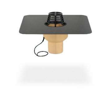 SITA Trendy Gully senkrecht heizbar 100 mm PUR wärmegedämmt mit Kiesfang PVC