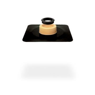 SITA VENT Grundplatte DN 100 PUR wärmegedämmt mit Dichtring Bitumen Bitumen