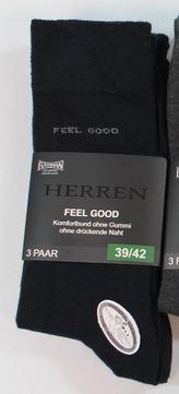 Intra Herren-Socken FeelGood Gr.39-42 3 Paar im Paket 3/38010-S Schwarz