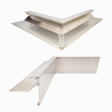 ALURAL Dachrand NB 100 Innenecke 90 Grad, 250x250 mm Aluminium