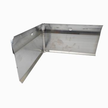 ALURAL Wandanschluss W5 Inneneck Aluminium