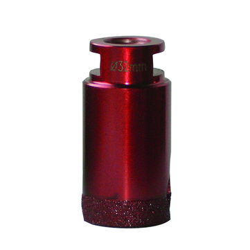 DIE Granitbohrkrone M-14 32mm Bohrkronen metalic rot