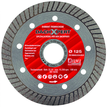 DIEWE Trennscheibe 115 mm Dachexpert DachXpert Diamanttrennscheiben