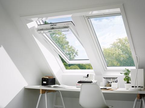 VELUX Schwing-Fenster Kunststoff GGU CK02 0070 55x78 cm Polyurethan Thermo Aluminium