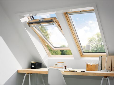 VELUX Schwing-Fenster Holz GGL MK12 3166 78x180 cm Kiefer Endlackierung Energy Plus