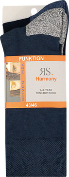 Intra Socken-HE Wellness Sohle 32969 schwarz/marine oder Jeans