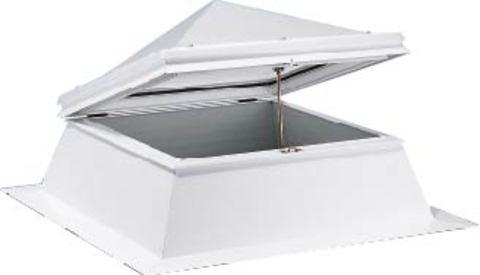 ESSMANN Lichtkuppel Pyramide lüftbar 3-schalig 80x80 mm Opal