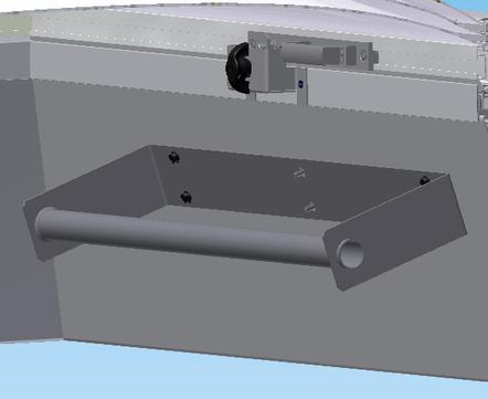 ESSMANN Leiterhalterung für Dachausstieg Typ EDA-G + EDA-G-E inkl. Befestigungsmaterial