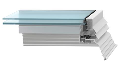 ESSMANN Flachdachfenster 120x120 cm 2-schalig lüftbar Opal