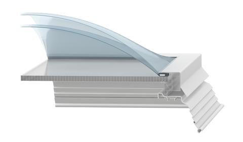ESSMANN Lichtkuppel-Polycarbonat-Stegplatte 2-schalig 100x100 cm Polycarbonat 16/7mm Opal