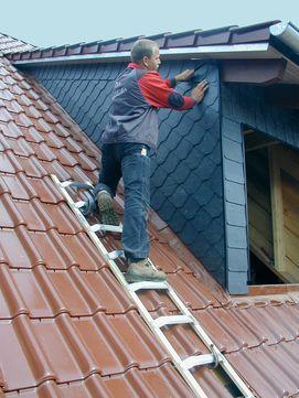 Krause Dachleiter 8 Sprossen Holz
