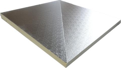 puren Kehlplatte GDS AL 105-130mm Set 1200x1200mm beidseitig Alu B2 WLS 023