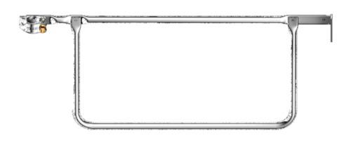 Layher Doppelstirngeländer 19 Schlüsselweite 1,09 m 1728. 119