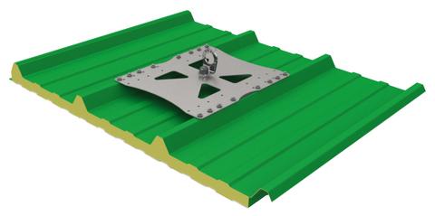 Grün Absturzsicherung SDW 1 Nummer 49560000 für Trapezblech -Deckschale