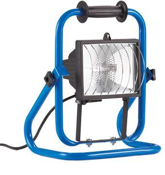 Hedi Halogenstrahler 500 Watt mit Gestell und 1,8 m Anschlussleitung Blau